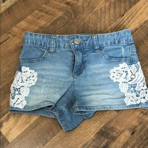 Chochet Light wash shirt shorts